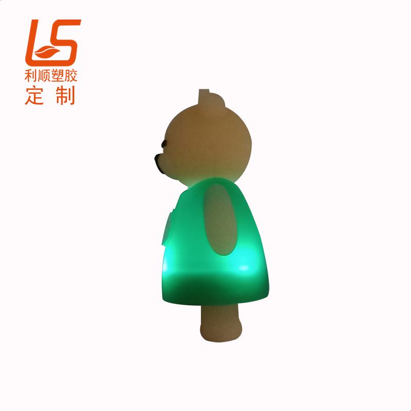 定制星巴克熊发光背包灯 立体公仔LED背包警示灯星巴克立体公仔发光灯 (2)