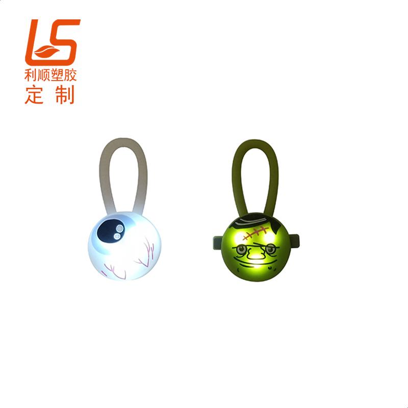 定制LED发光宠物项圈吊坠 宠物LED发光项圈吊坠