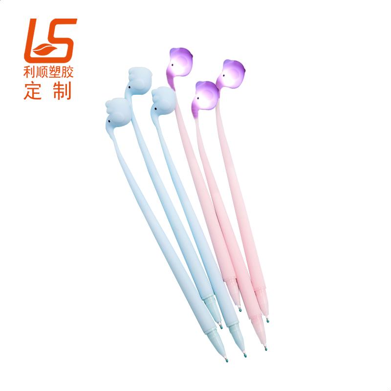 定制发光中性笔 LED发光灯泡中性笔
