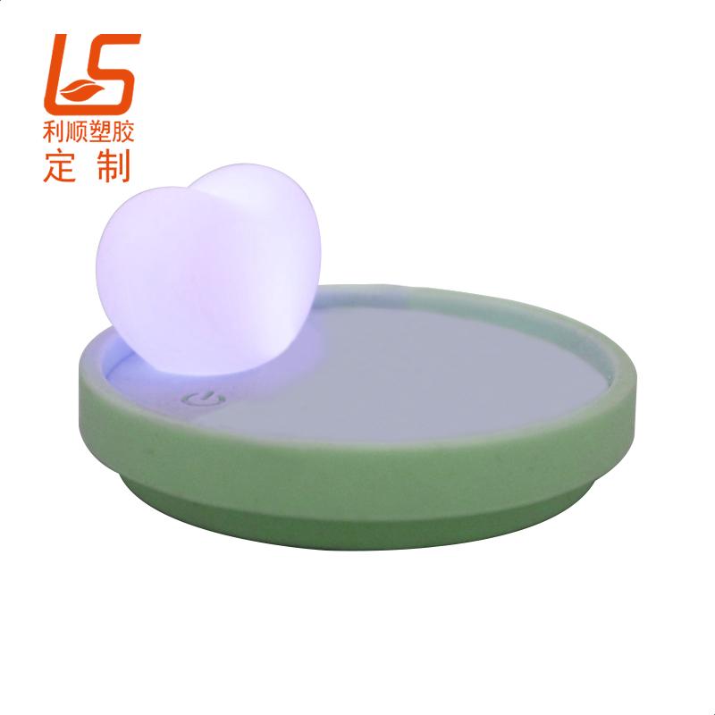 定制LED发光硅胶杯垫 硅胶LED发光杯垫发光杯盖 (1)
