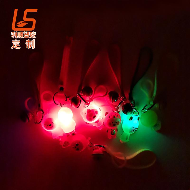 定制硅胶LED发光钥匙扣 硅胶LED发光公仔发光公仔 (3)