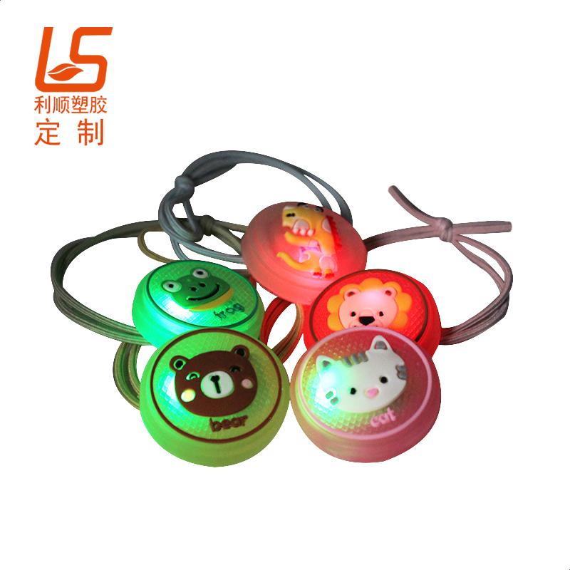 定制儿童LED闪光发带 户外夜间发圈安全警示灯闪光发绳 (3)