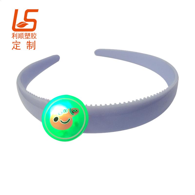 定制PVC软胶发光发夹 驱蚊LED闪光发卡