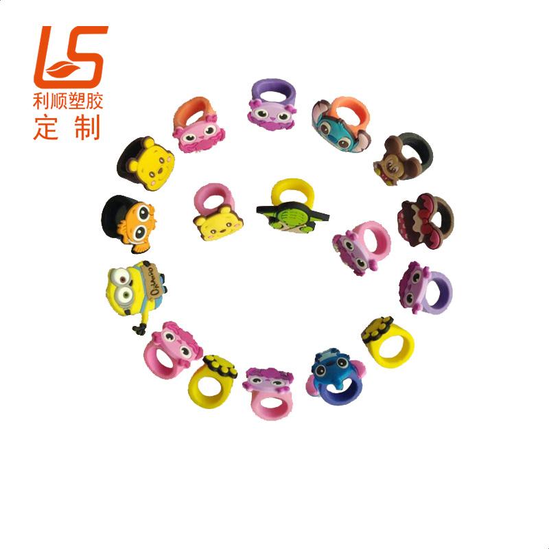 定制卡通万圣节发光戒指 儿童硅胶LED发光戒指