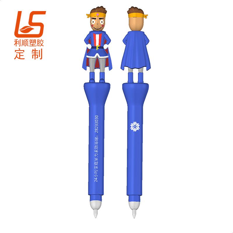 定制硅胶卡通中性笔 立体公仔中性笔