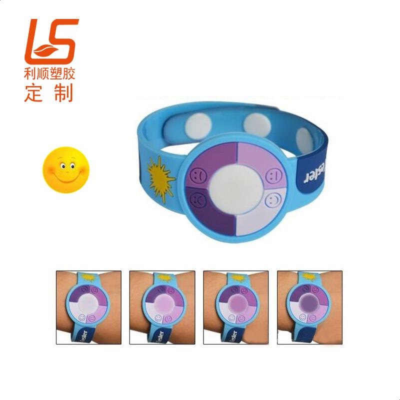 PVC软胶防紫外钥匙扣 滴胶UV感应吊坠紫外线感应手环 (1)