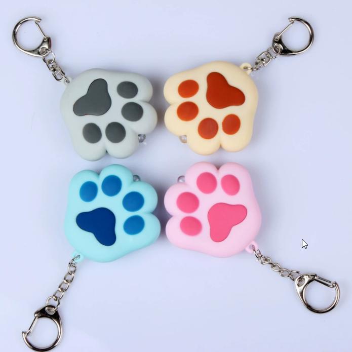 猫爪LED发光发声钥匙扣定制代工LED发光发声钥匙扣 (3)