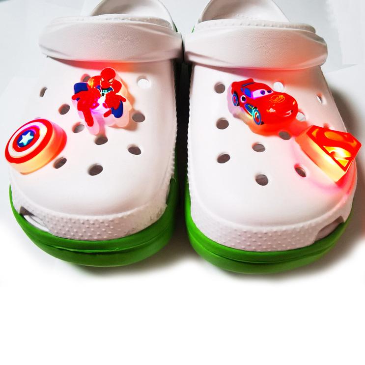 卡通软胶LED发光鞋扣